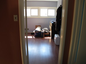 Heading into the master bedroom (still being unpacked).